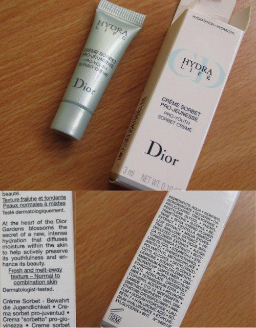 Shoplog Keulen Dior Hydra life Pro-youth sorbet creme