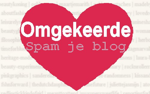 Omgekeerde spam je blog