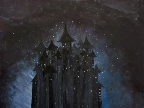 Being creative Castle in a night sky1
