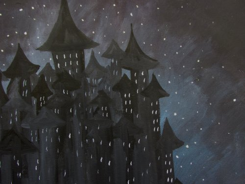 Being creative Castle in a night sky2