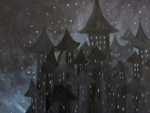 Being creative Castle in a night sky3