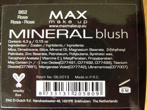 MAX make up Mineral blush Rose2