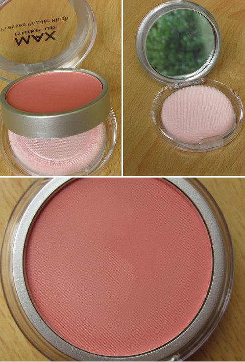 MAX make up pressed powder blush Rosewood1