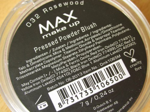 MAX make up pressed powder blush Rosewood2