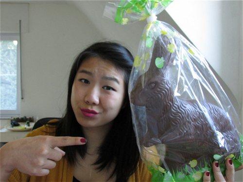 Grote chocoladepaashaas