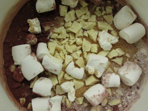 Chocolade marshmallow muffins (4)