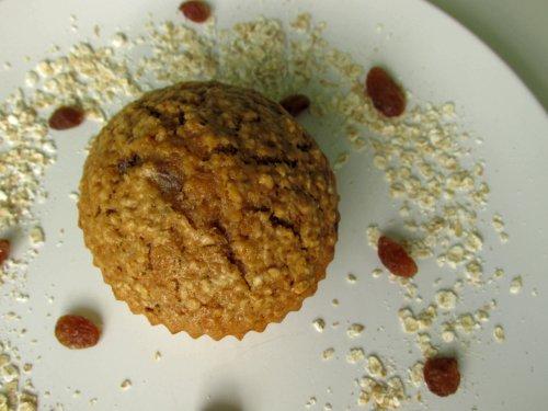 Havermout rozijnen muffins