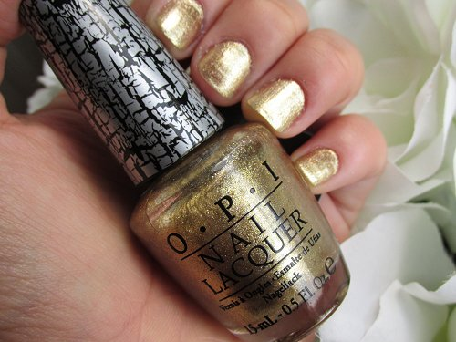 OPI nail lacquer gold shatter