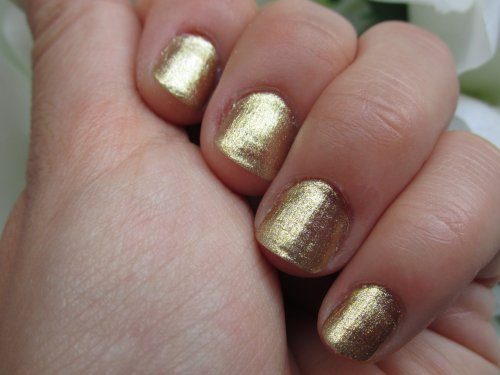 OPI nail lacquer gold shatter3