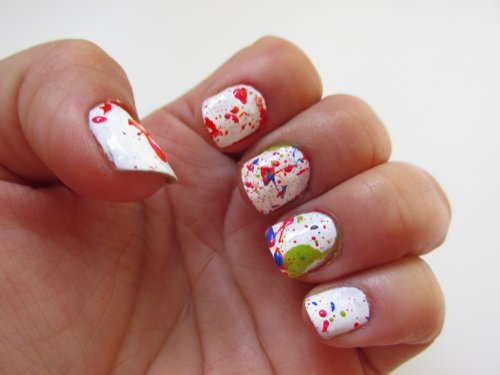 Jackson Pollock Splatter nails