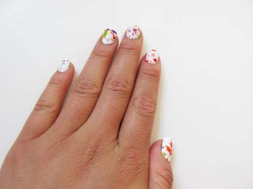 Jackson Pollock Splatter nails1