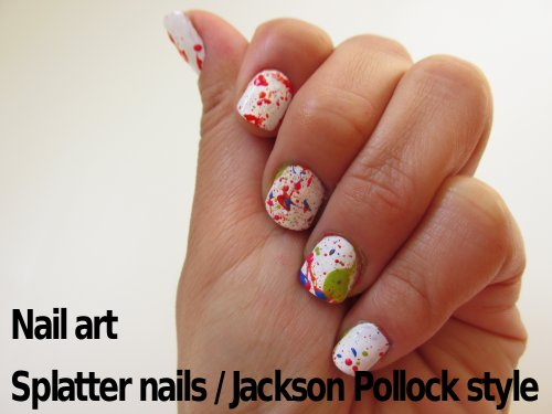 Jackson Pollock Splatter nails2