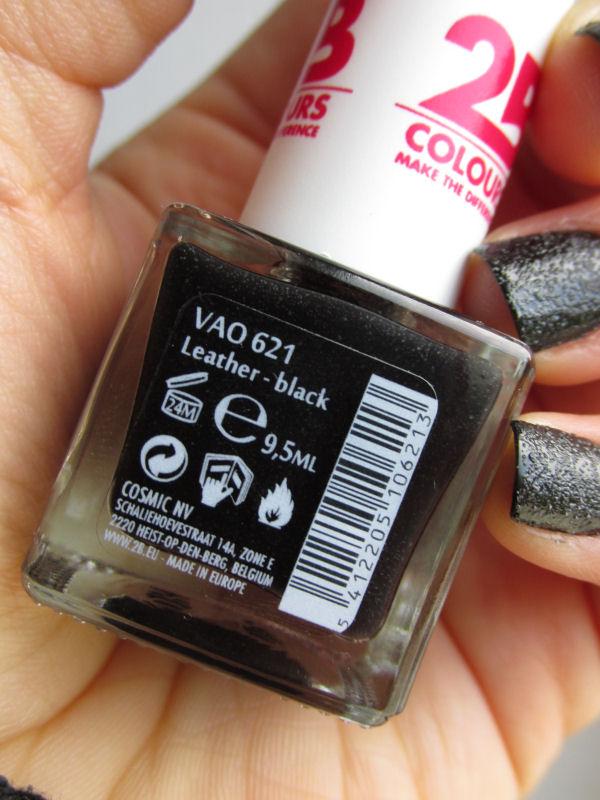 2B Leather Effect Nail polish Black1