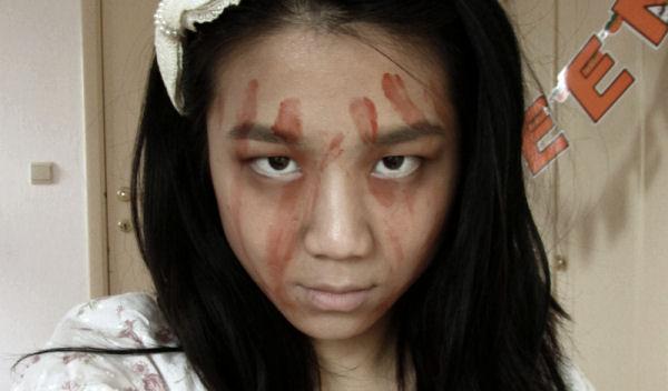 Creepy girl Halloween
