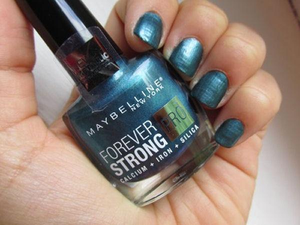 Diverse nail polish finishes metallic