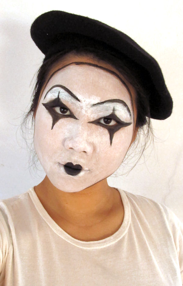 Halloween Mime makeup