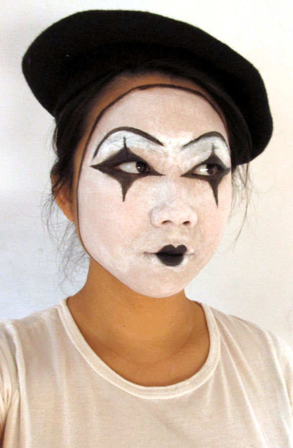 Halloween Mime makeup1