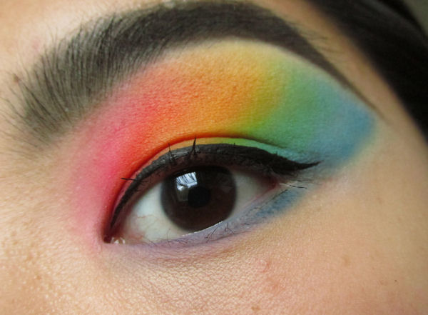 Ultra Mattes V1 palette Rainbow eye makeup