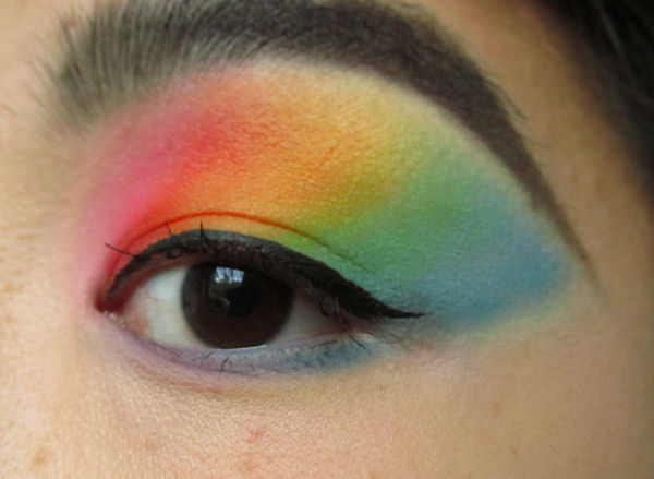Ultra Mattes V1 palette Rainbow eye makeup1