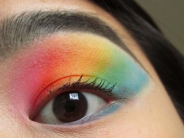 Ultra Mattes V1 palette Rainbow eye makeup2