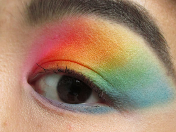 Ultra Mattes V1 palette Rainbow eye makeup3