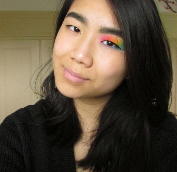 Ultra Mattes V1 palette Rainbow eye makeup4