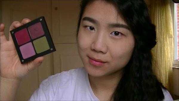 Makeup Pink & Green eyes (1)