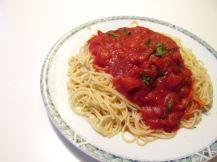 Spaghetti basilicum