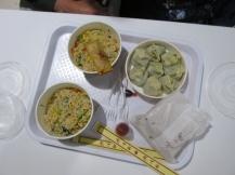Groentendumplings en nasi