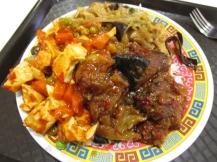Sichuan tofoe, aubergines en groenten