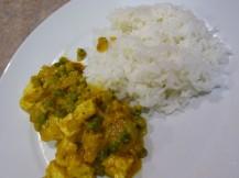 Tofu curry met rijst