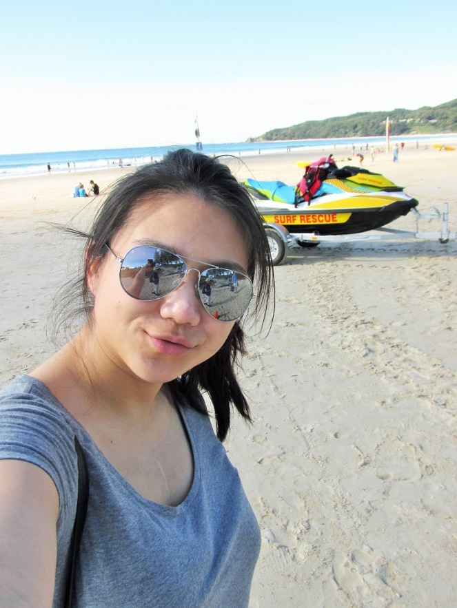 Australian Selfie on Byron Bay Beach