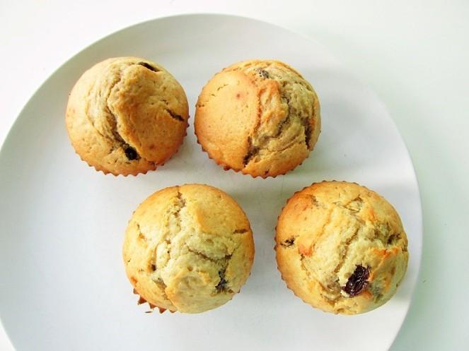 Bananen rozijnen muffins (2)