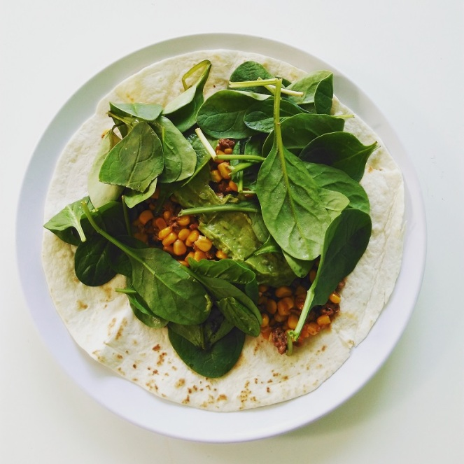 Healthy Vegetarian Wrap (1)