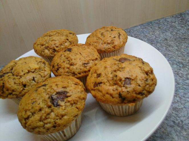 Chocolate Chip & Almond Muffins (3)