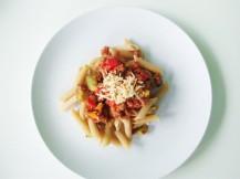 Vegetarian penne pasta
