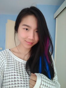 Blue and Pink Hair Extensions