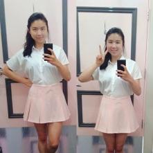 Aegyo schoolgirl outfit