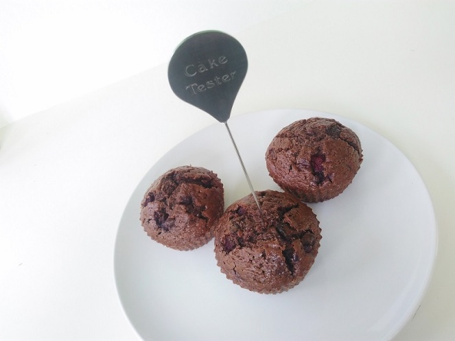 Double Chocolate Cherry Muffins (3)