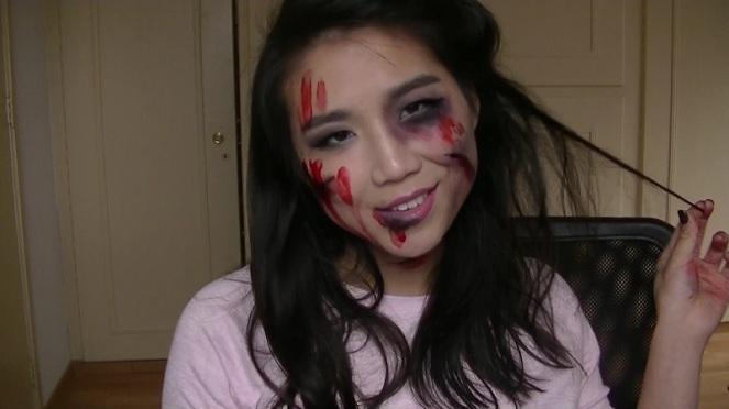 last-minute-halloween-makeup-zombie-girl-2