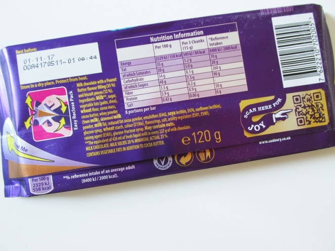 Cadburry Dairy Milk Oreo Peanut Butter (2)