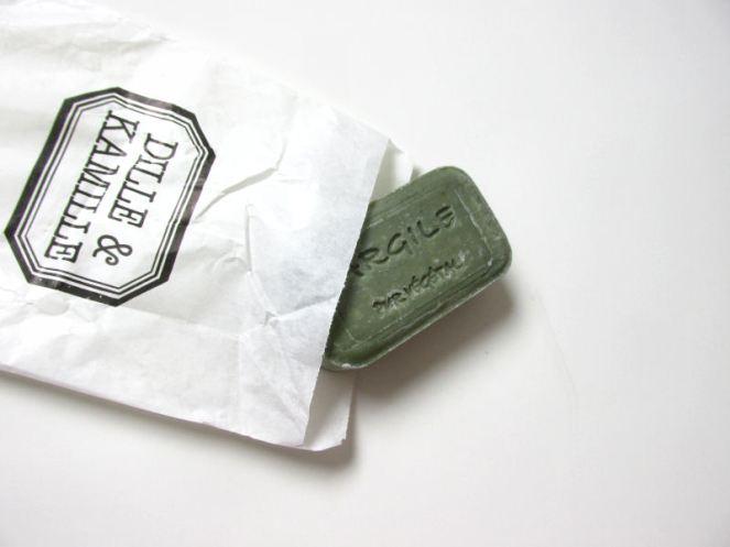 Dille& Kamille Groene klei zeep (1)