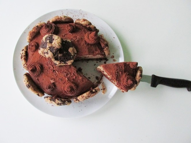 Vegan Chocolate Cookie Cake (2)